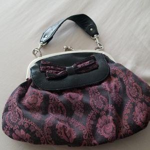 Lulu purple and black purse